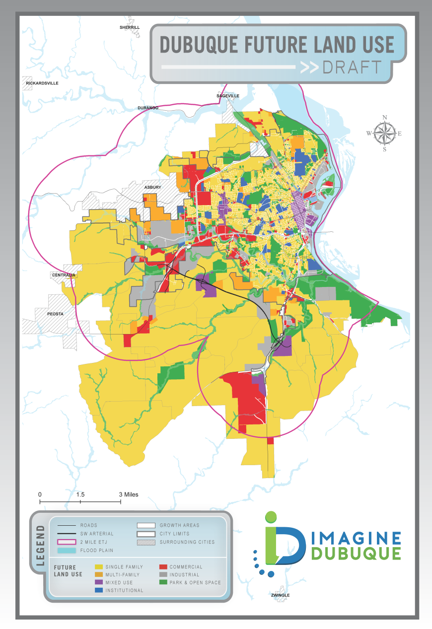 Land Use Map for Bee Branch Opening